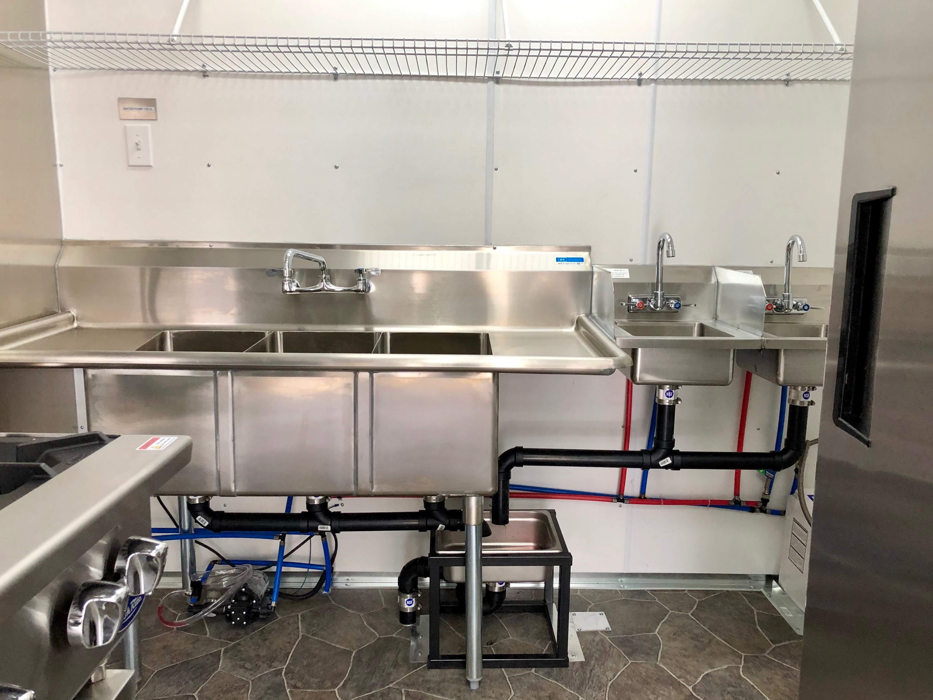 Custom Concessions truck kitchen