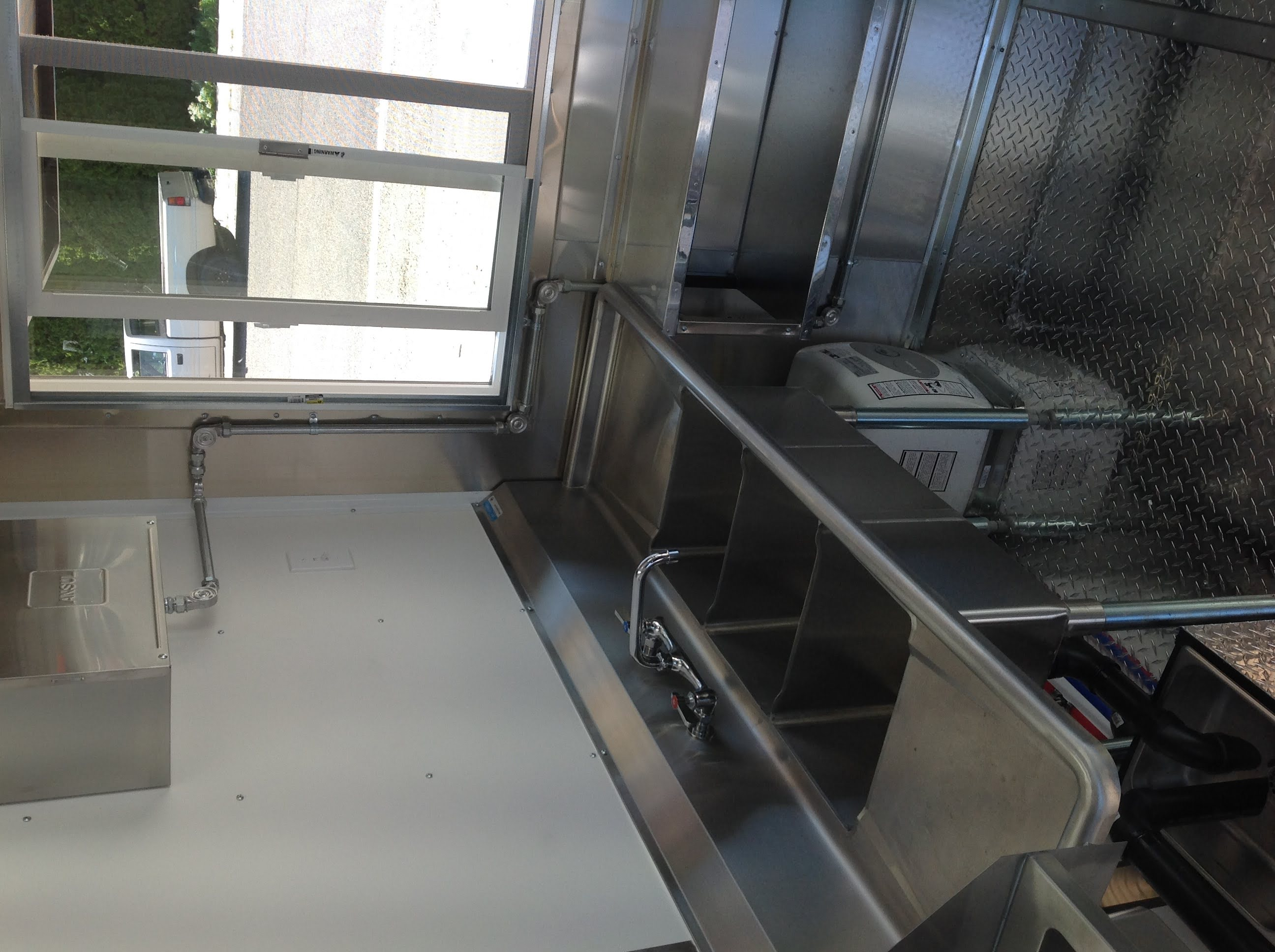 Custom Idaho Concession Trailer Kitchen to Code