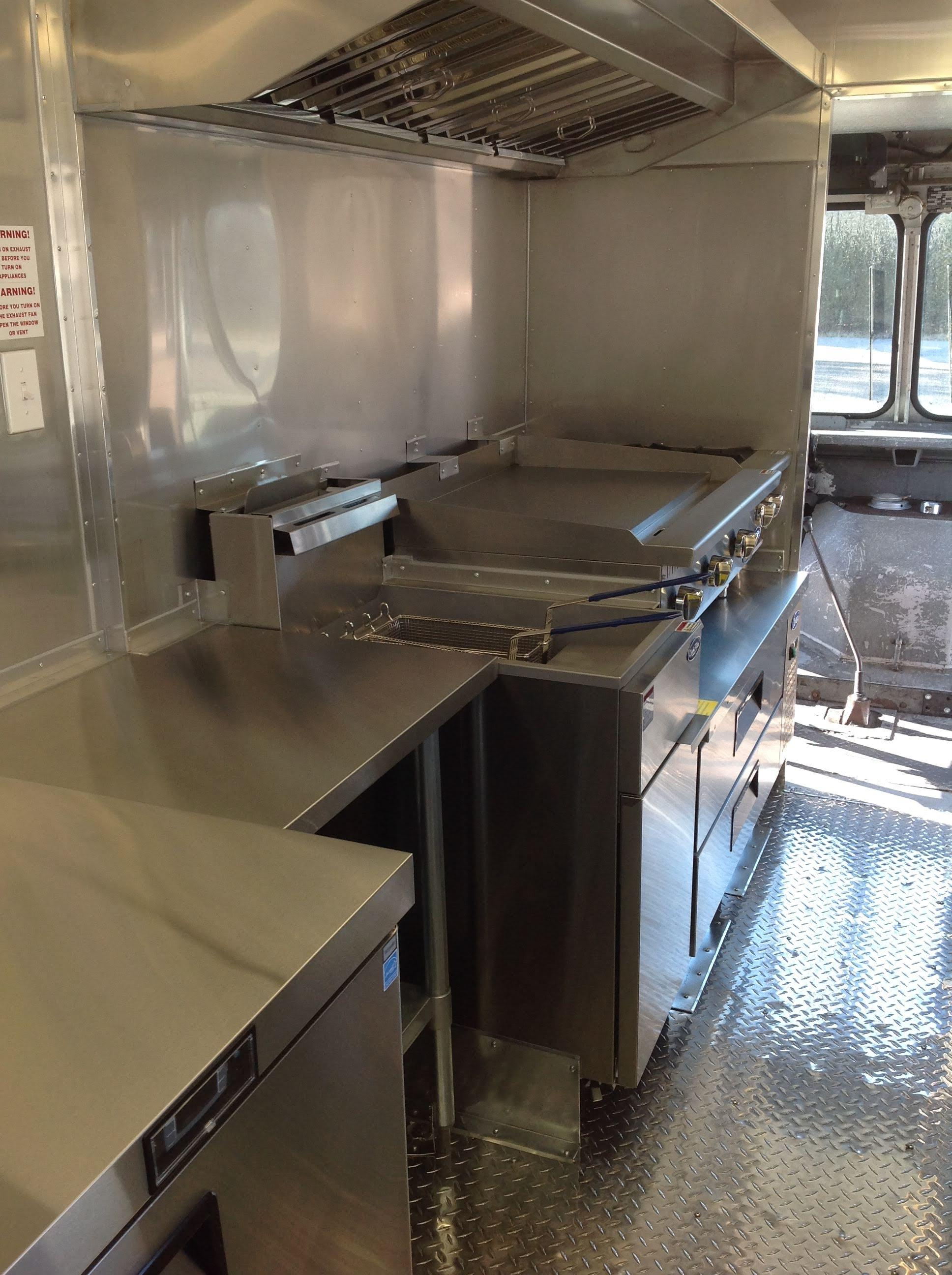 Meridian Foodtruck Interior Kitchen Install