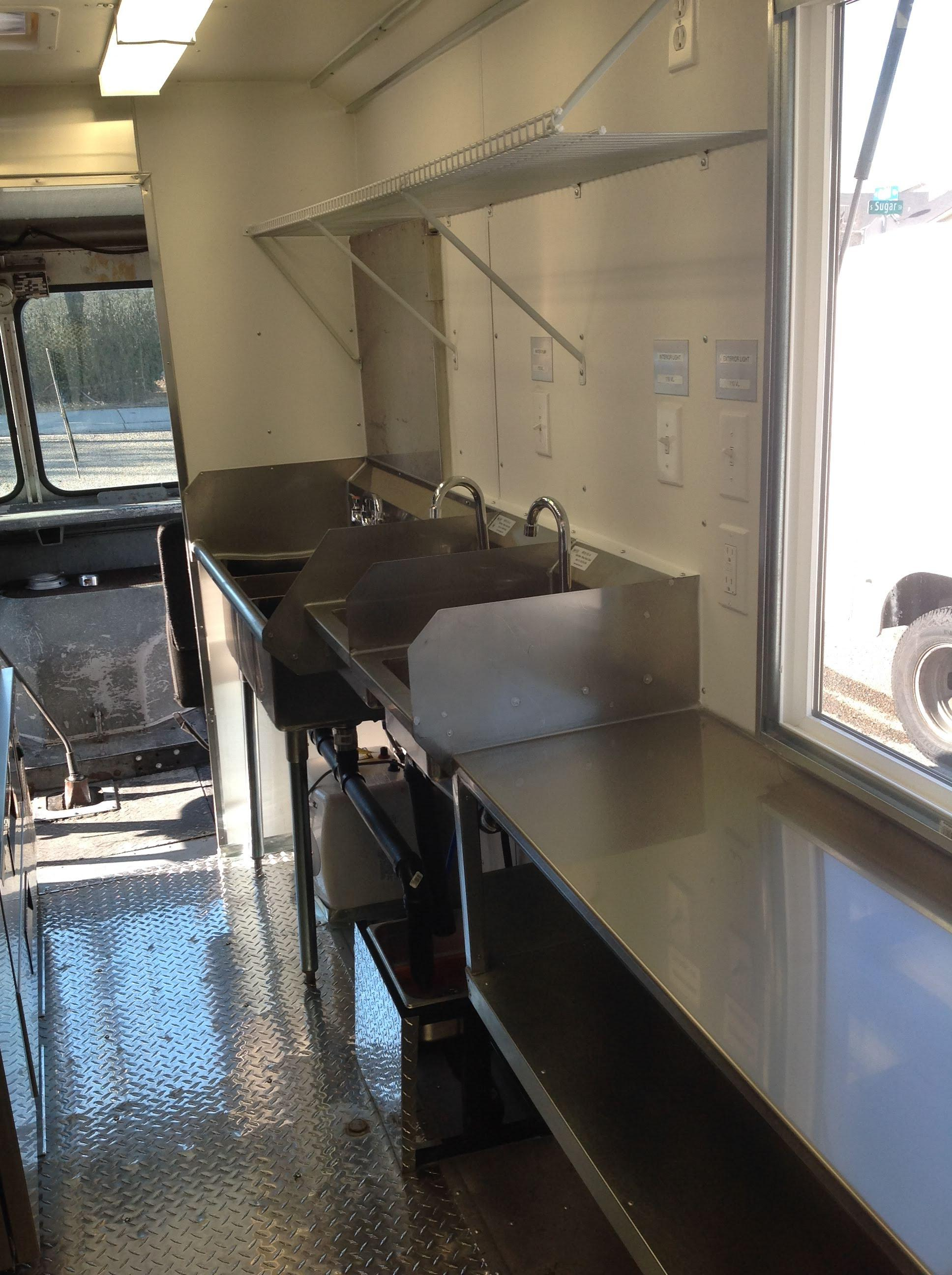 Boise Foodtruck Interior Kitchen to Code