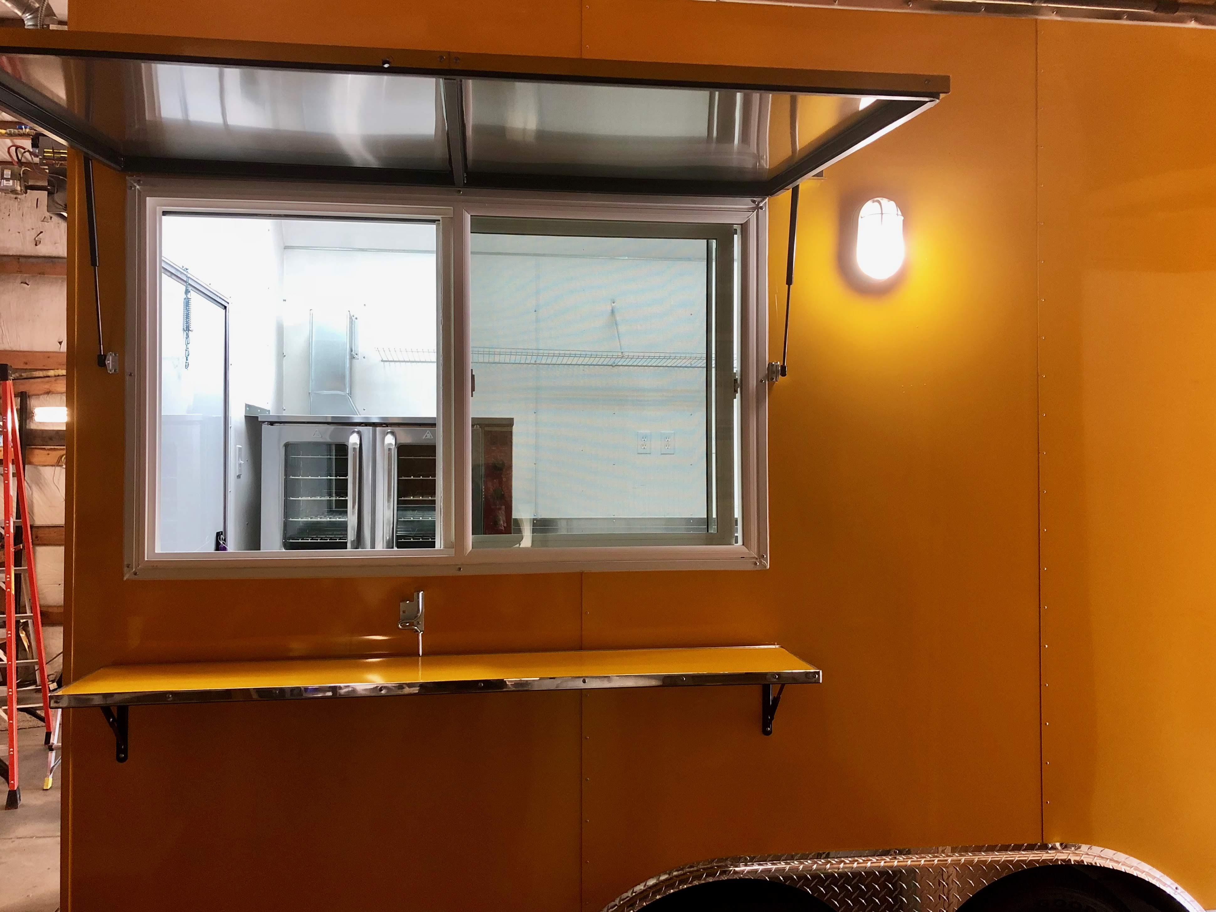 Food truck service window 13